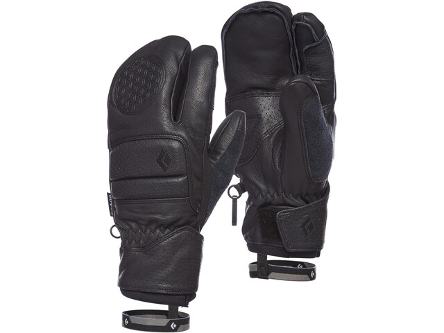 Black Diamond Spark Angel Finger Gloves Dame Smoke